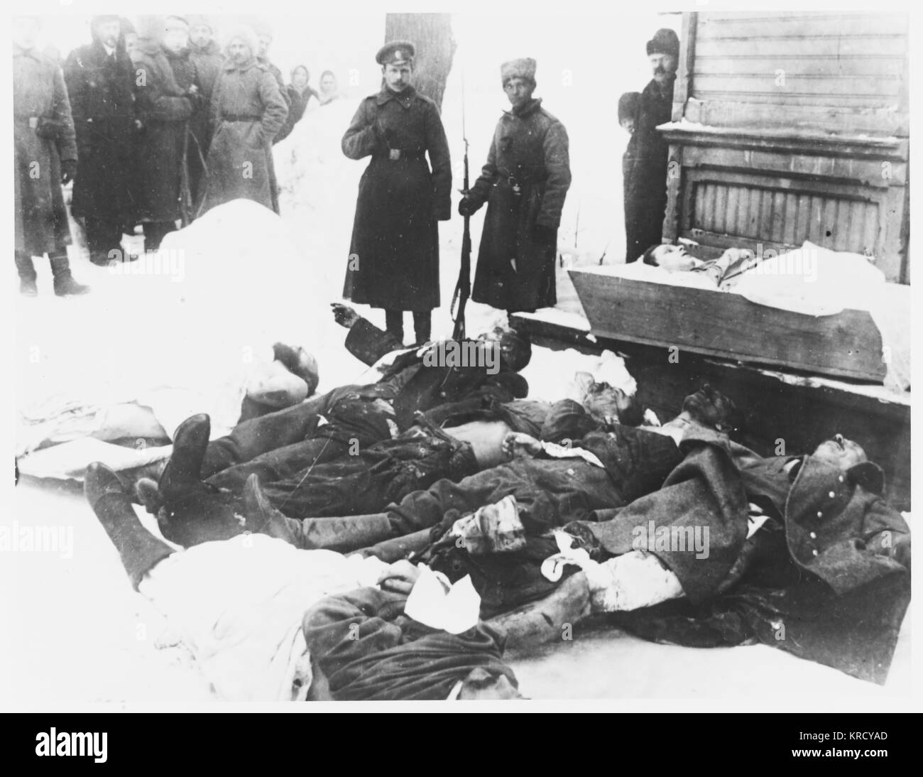 Victims of the 'February  Revolution'.         Date: 23 March 1917 - Stock Image