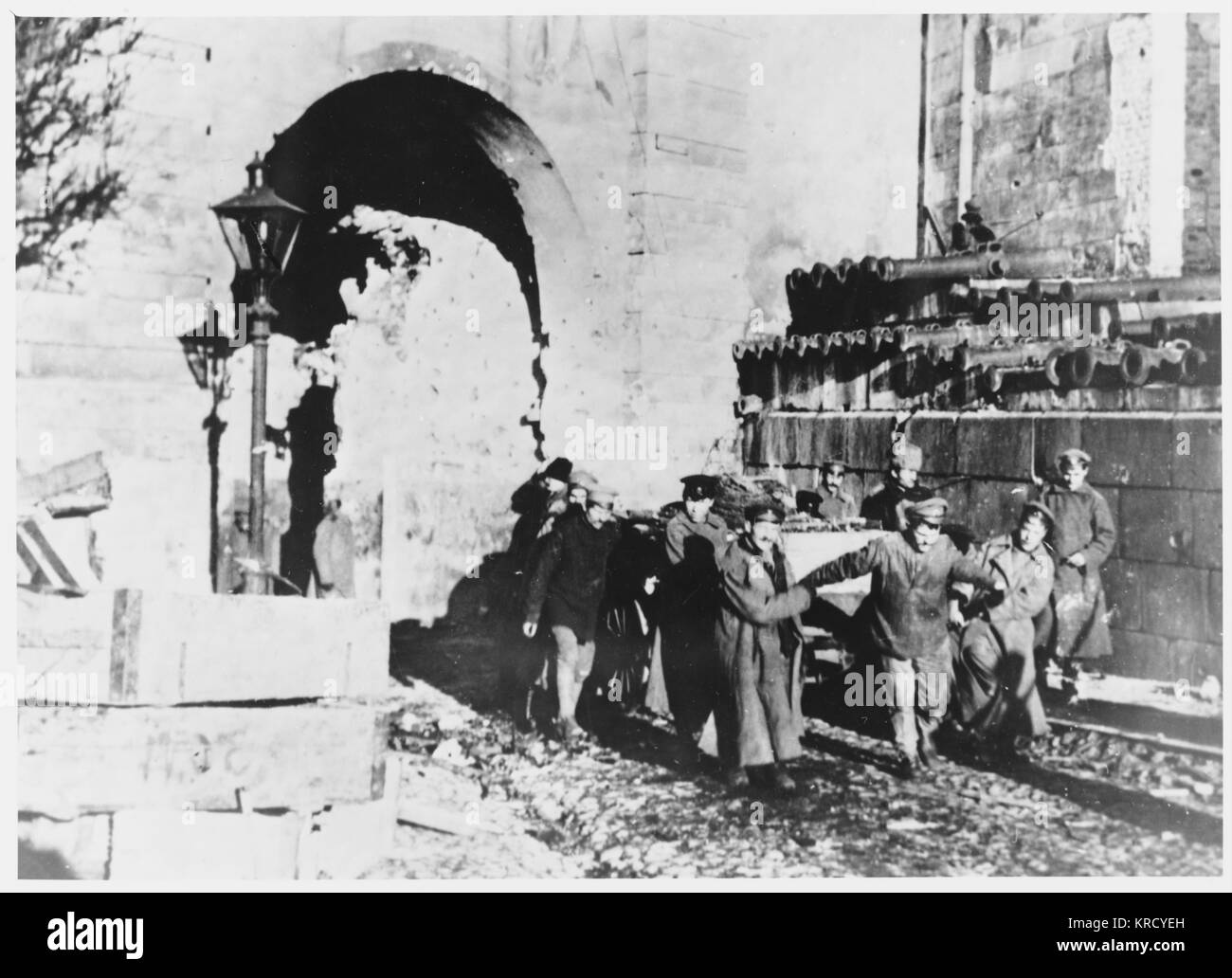 After a long battle, the  Moscow Kremlin finally falls  to the Bolsheviks.        Date: 2 November 1917 - Stock Image