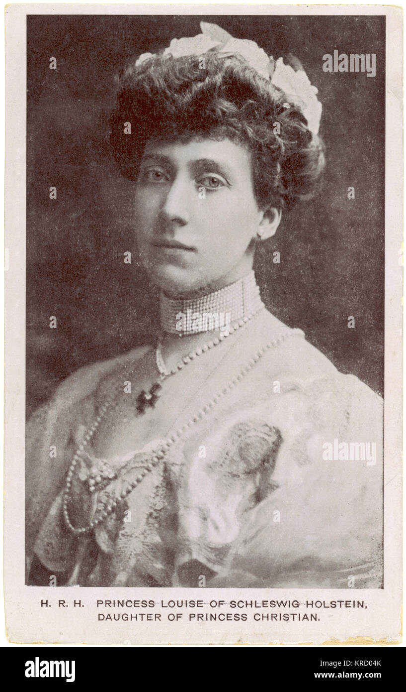 PRINCESS MARIE-LOUISE Princess Marie Louise of  Schleswig Holstein, younger  daughter of Princess Helena  and Prince - Stock Image