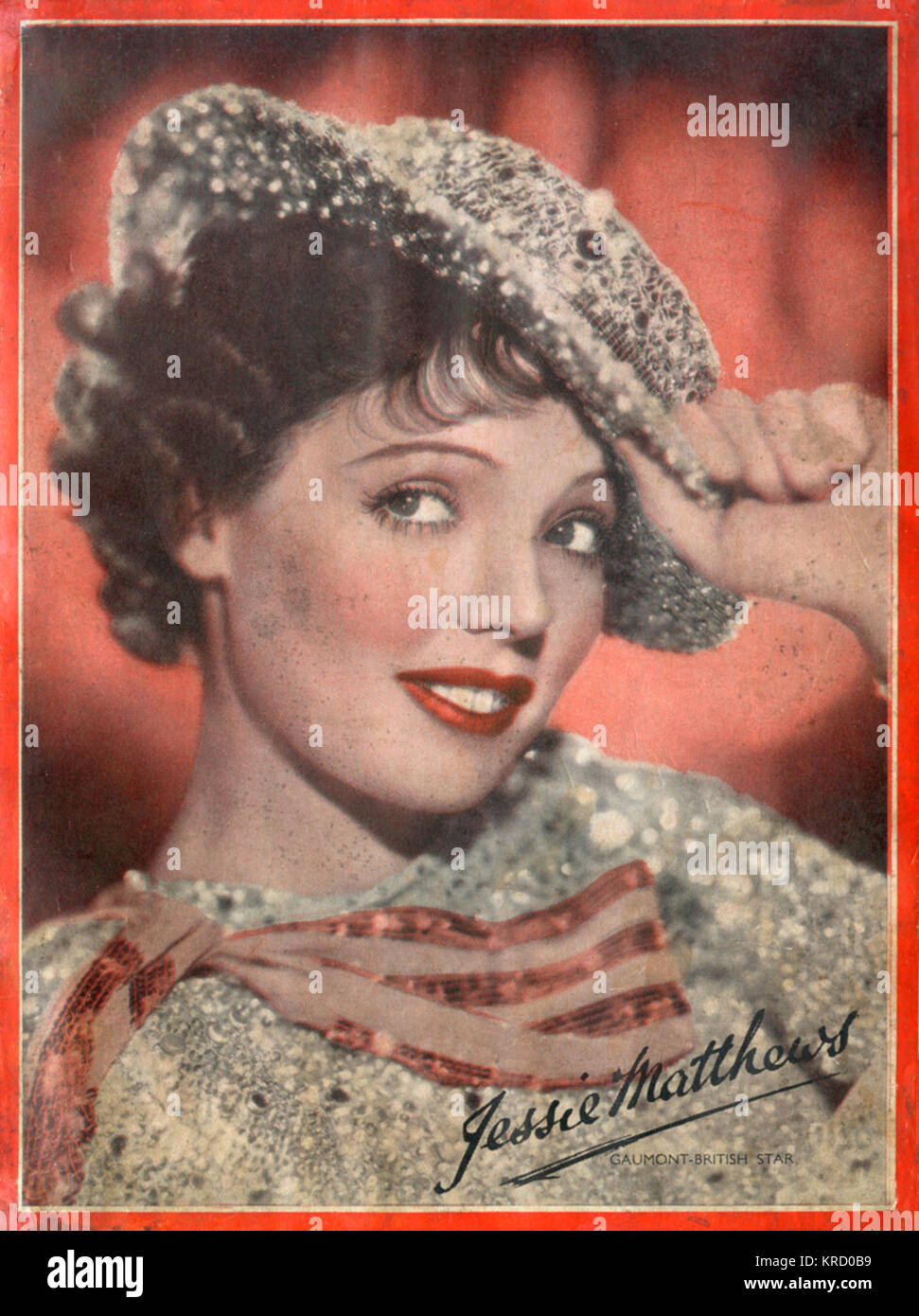 Jessie Matthews (1907-1981), British singer and dancer of stage and screen, wearing her sparkling 'Over My Shoulder' - Stock Image