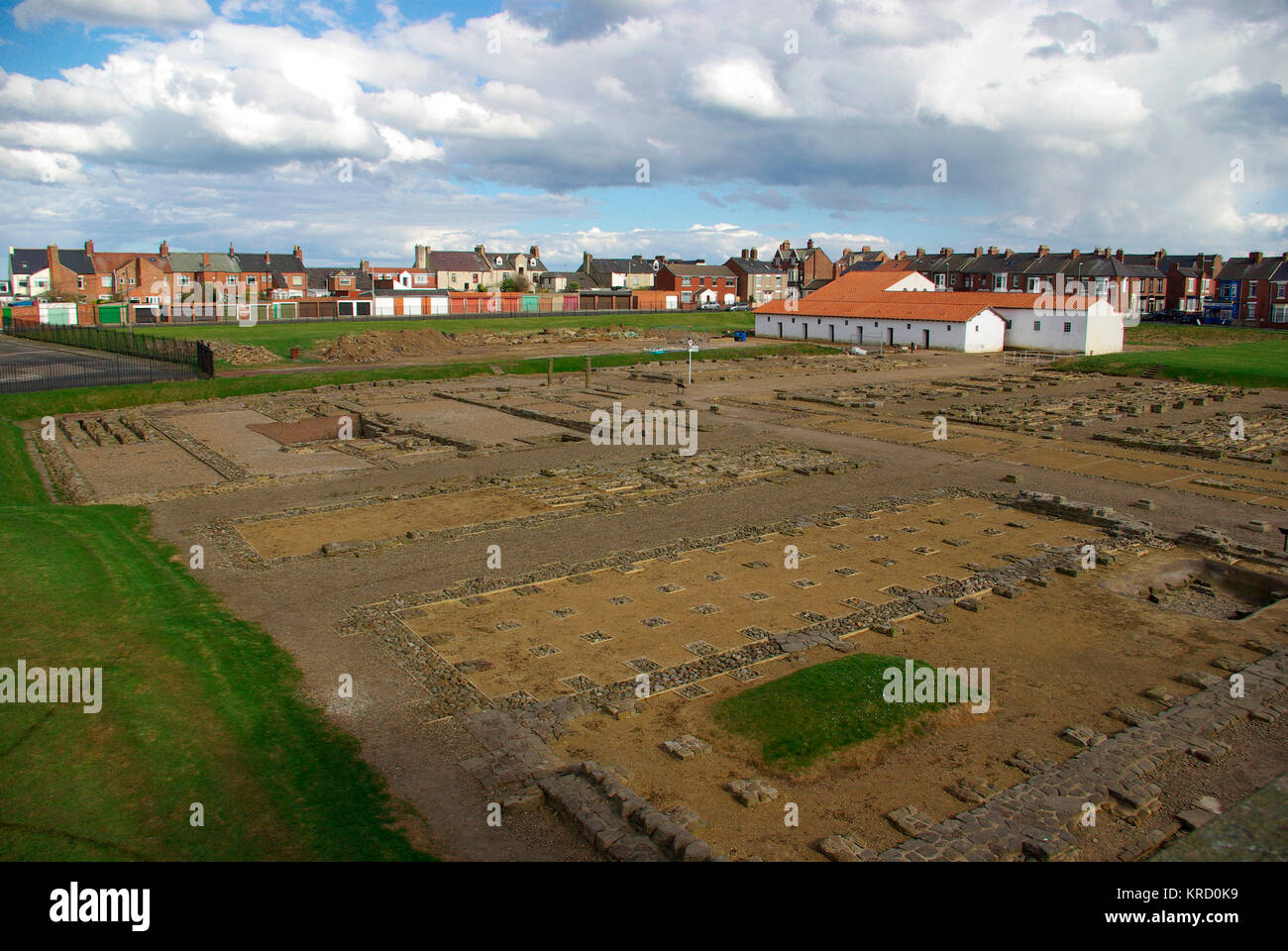 Arbeia Roman Fort - South Shields     Date: 2007 - Stock Image