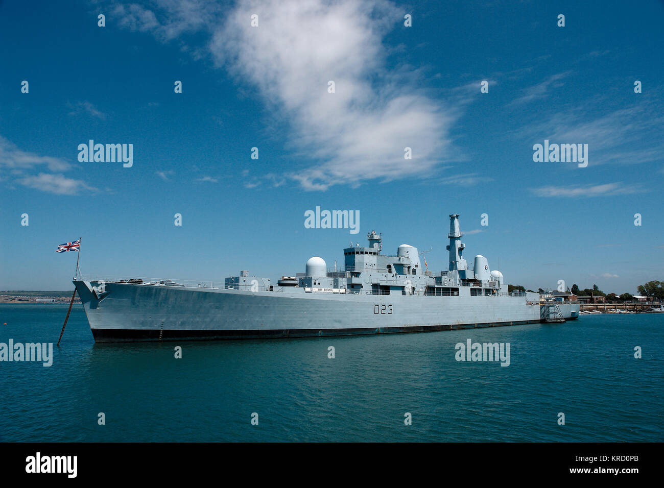 A Royal Navy ship at Portsmouth.      Date: 2009 - Stock Image