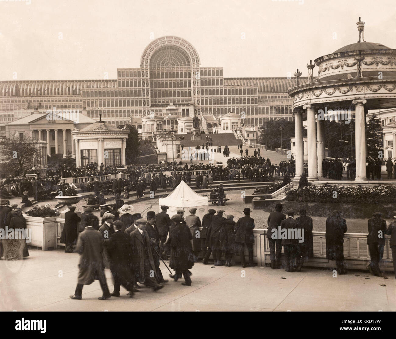 View of the Central Avenue leading to the Crystal Palace in south London at the time of the annual Brass Band Festival. - Stock Image
