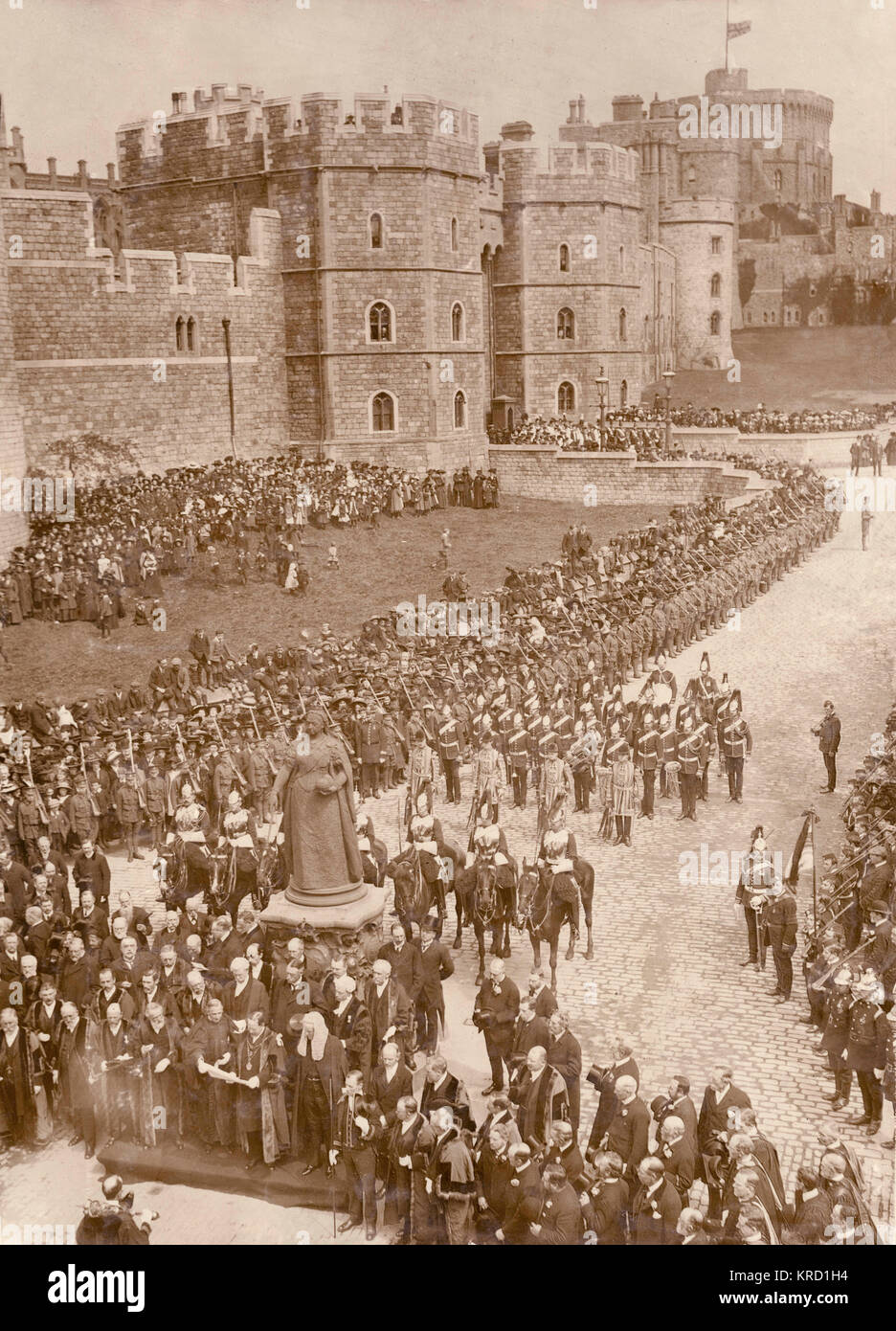 Proclaiming the accession of King George V at Windsor, soon after the death of his father, King Edward VII.  The - Stock Image