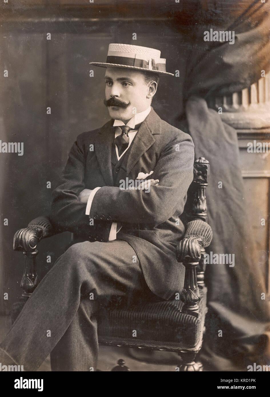Lord Brooke (Leopold Guy Francis Maynard Greville, 1882-1928) who married Miss Elfrida Marjorie Eden on 29 April - Stock Image