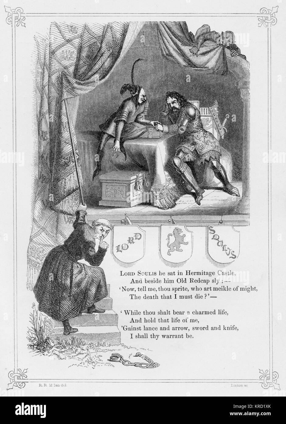 LORD SOULIS.  British Ballad which tells the story of William de Soulis (died c. 1320), Lord of Liddesdale and Butler - Stock Image