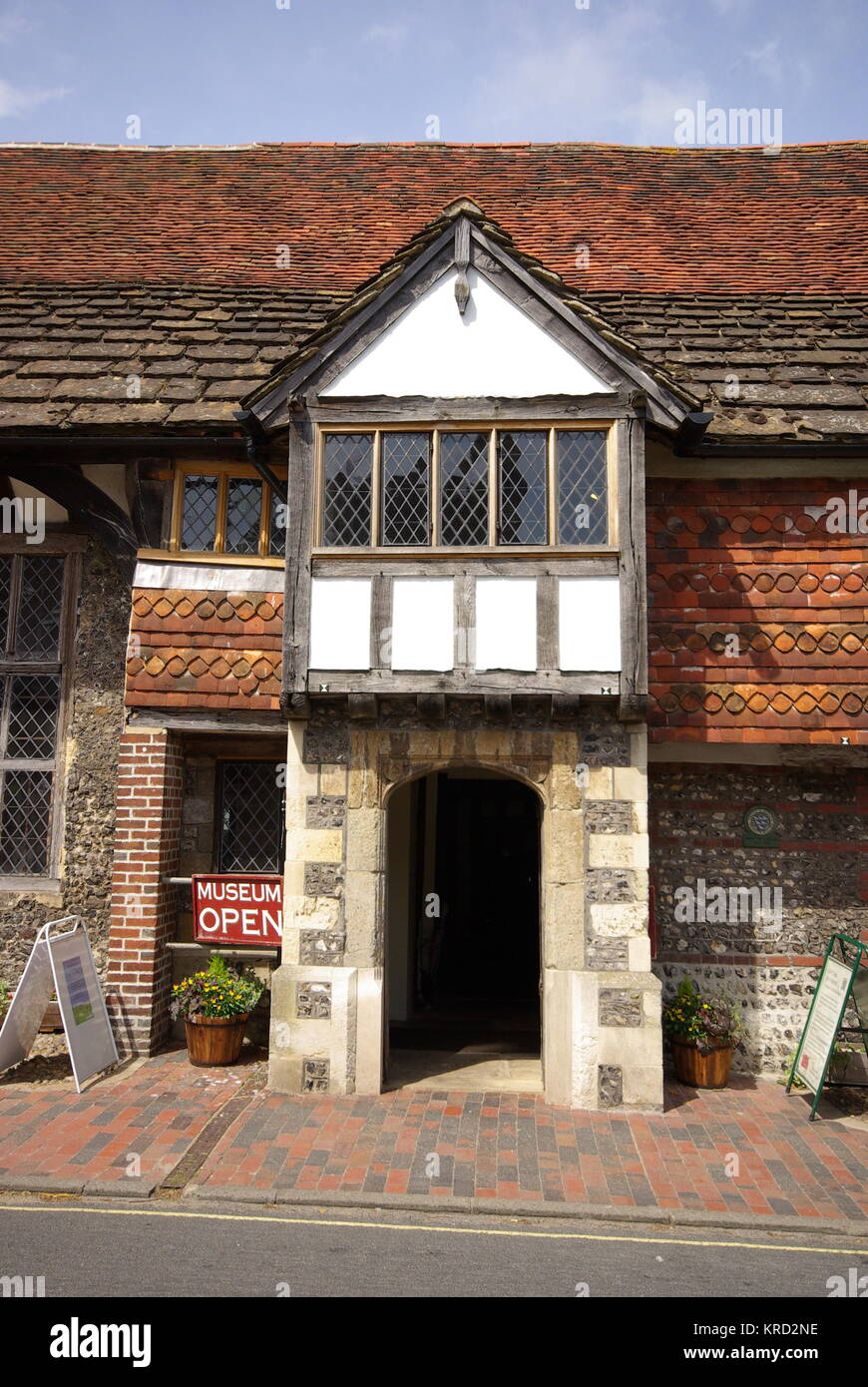 Anne of Cleves House Museum, Lewes, East Sussex.      Date: 2011 - Stock Image