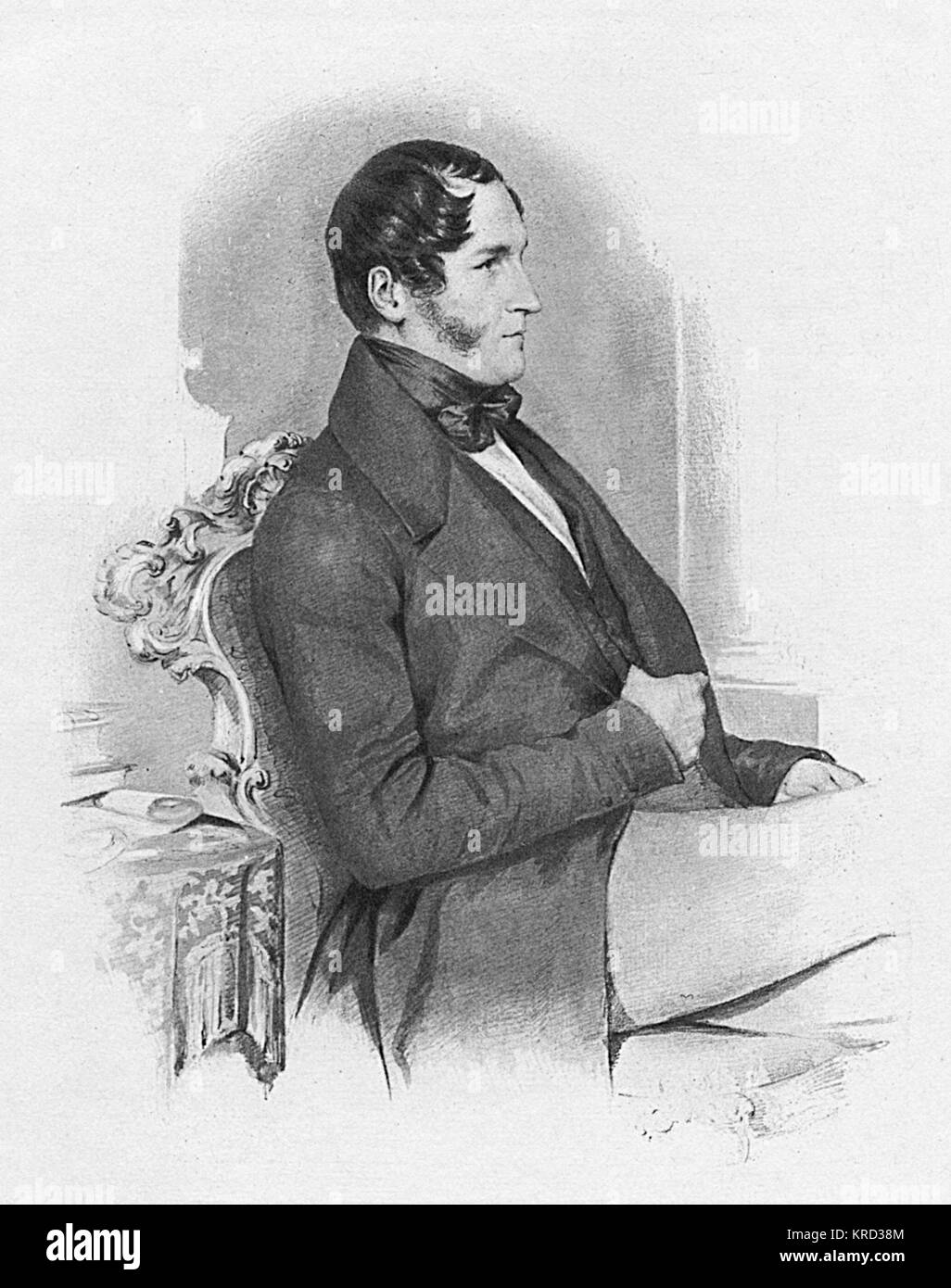 Leopold I, King of the Belgians (1790-1865), King from 1831.  Uncle of Queen Victoria.       Date: 1841 - Stock Image