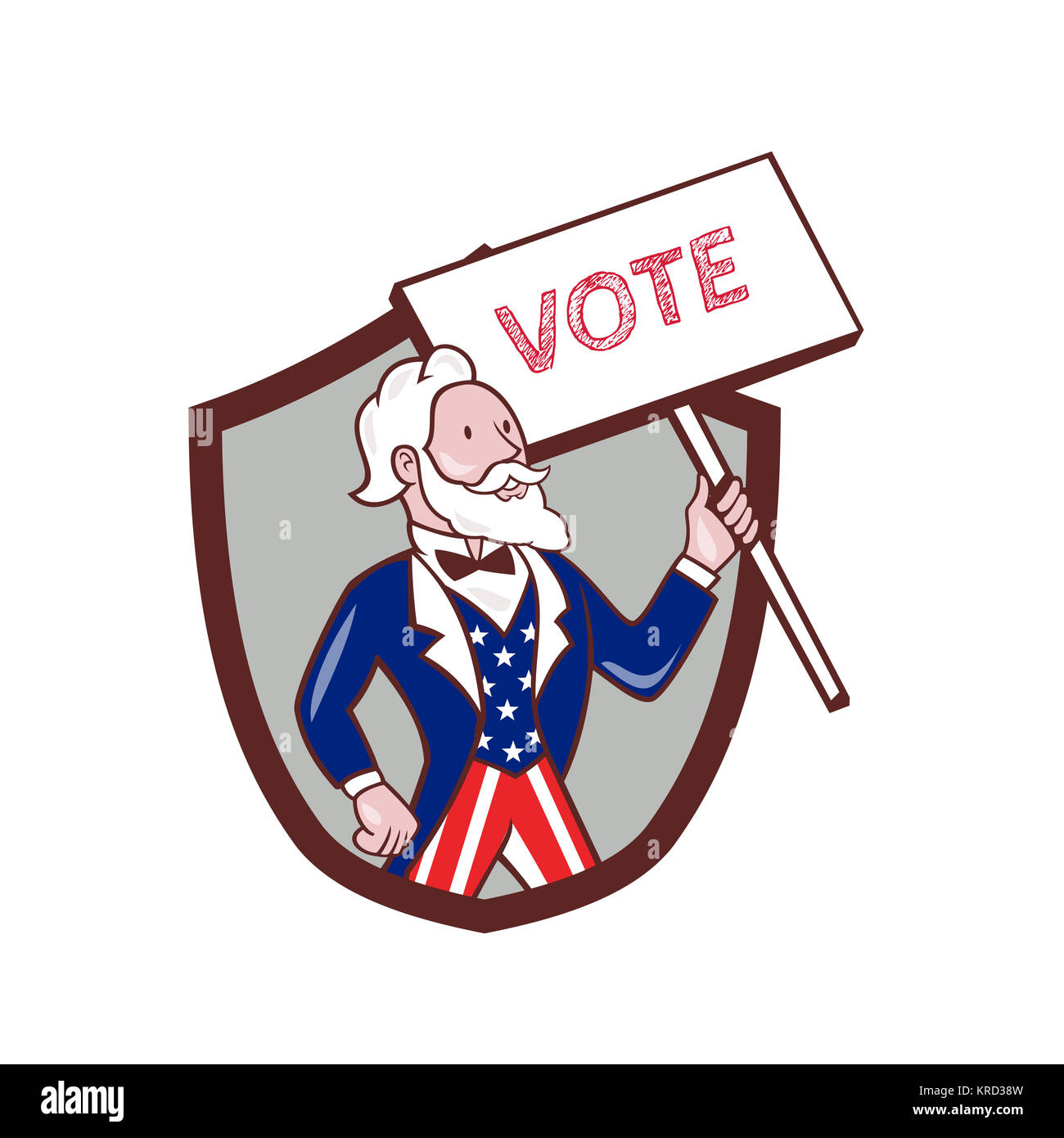 Uncle Sam Voting American Stock Photos Uncle Sam Voting American