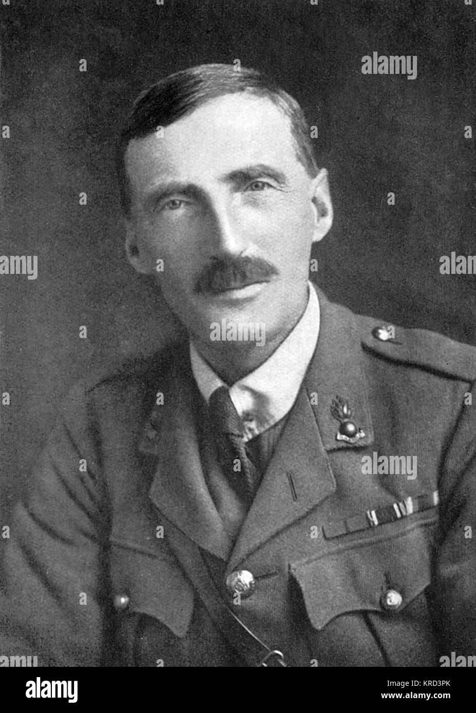 Lieut.-Col. E. H. Richardson, Commandant of the British War Dog School during the First World War.  Responsible - Stock Image