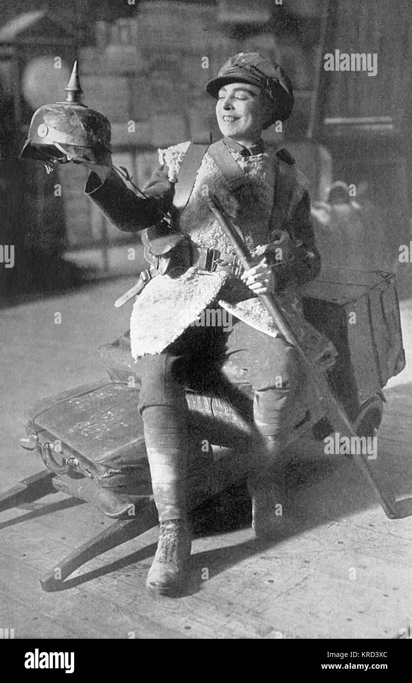 Vesta Tilley (1864-1952), born Matilda Alice Powles, later Lady de Frece, music hall actress whose speciality was - Stock Image