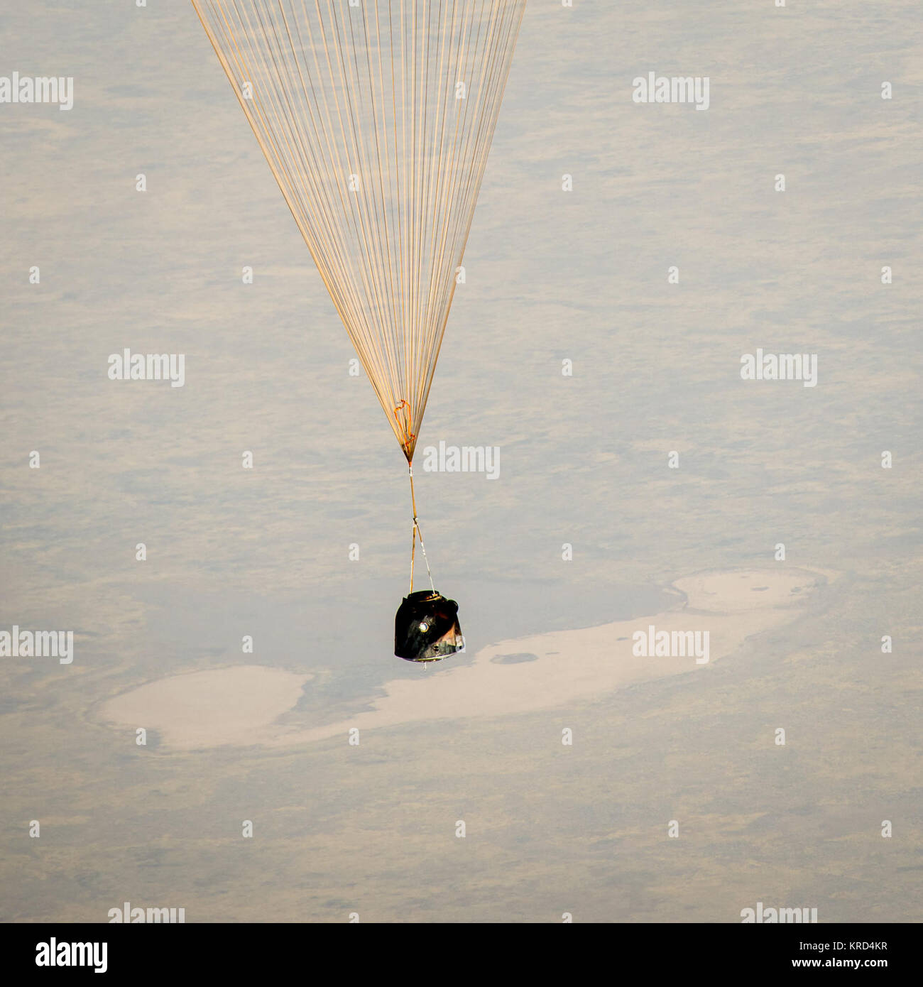 The Soyuz TMA-08M spacecraft with Expedition 36 Commander Pavel Vinogradov of the Russian Federal Space Agency (Roscosmos), - Stock Image