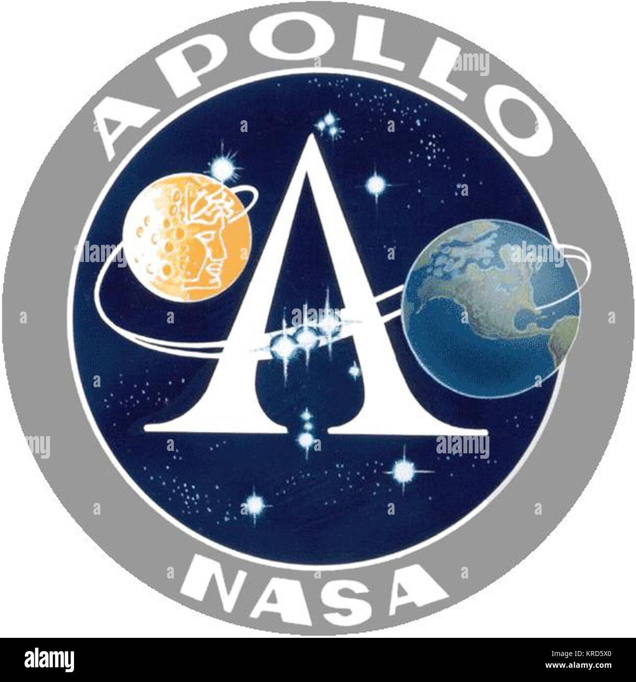 Apollo program insignia - Stock Image