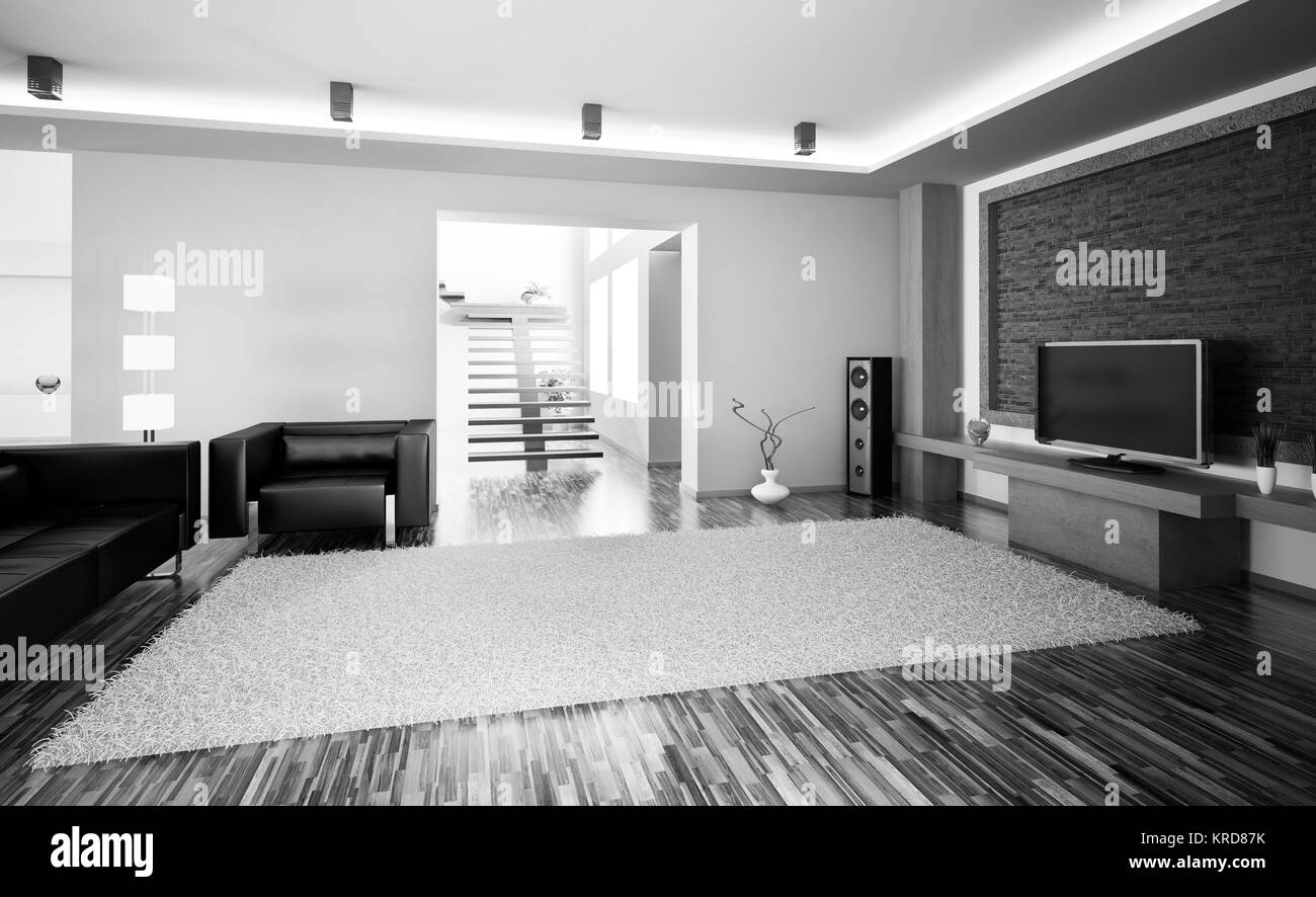 Sofa Living Room Black and White Stock Photos & Images - Alamy