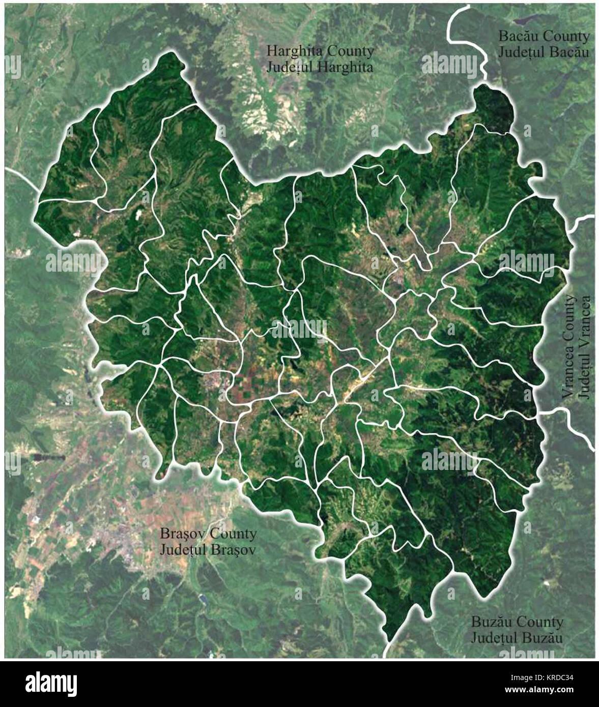 Romania Covasna Location map Stock Photo: 169325272 - Alamy