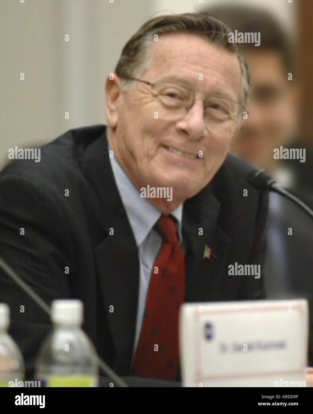 Lt. Gen. James A. Abrahamson talks during the NASA adisory Council meeting held at the Rayburn Building on Capitol - Stock Image