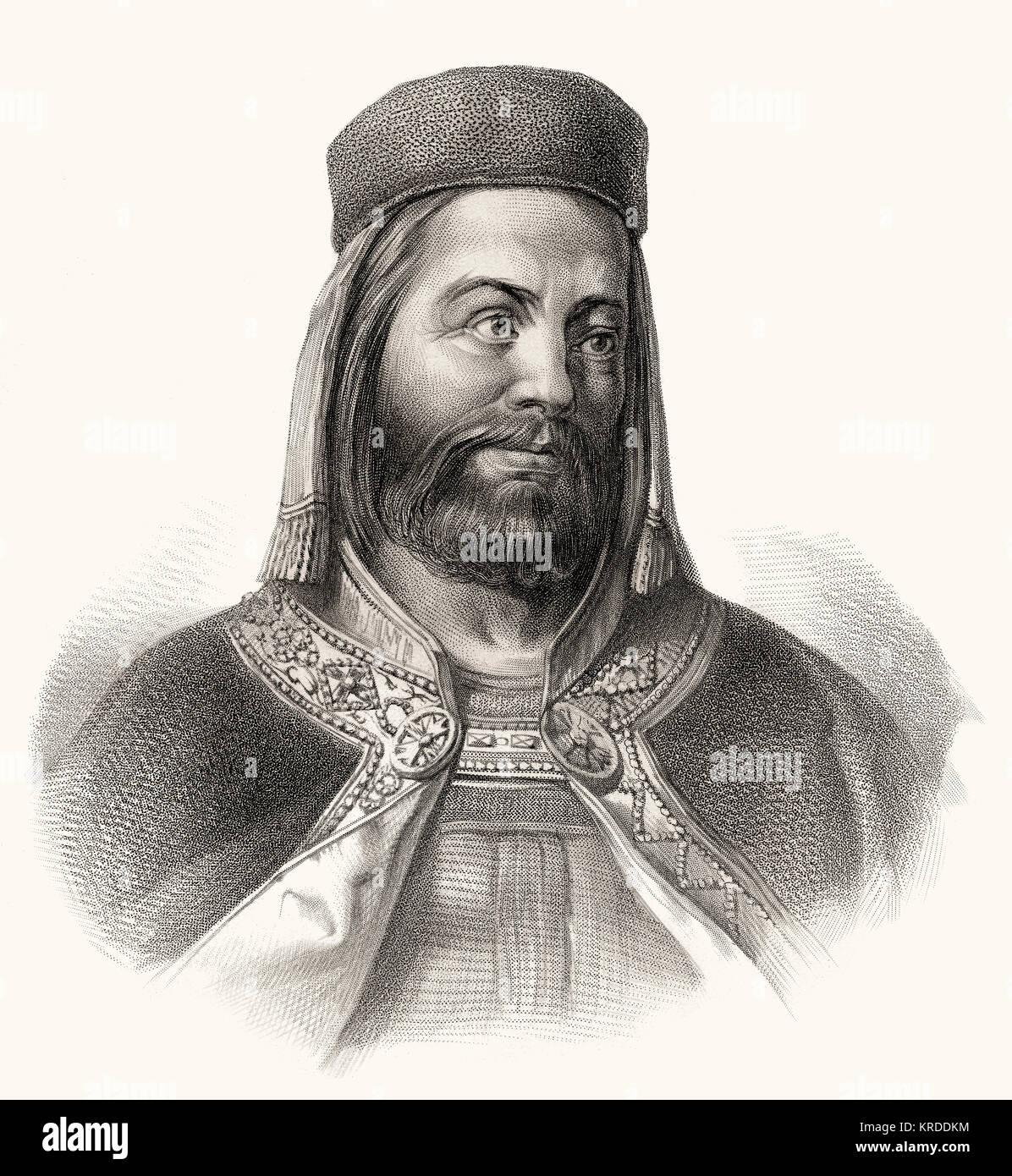 Charles IV,  1316 - 1378,  king of Bohemia, Holy Roman Emperor - Stock Image