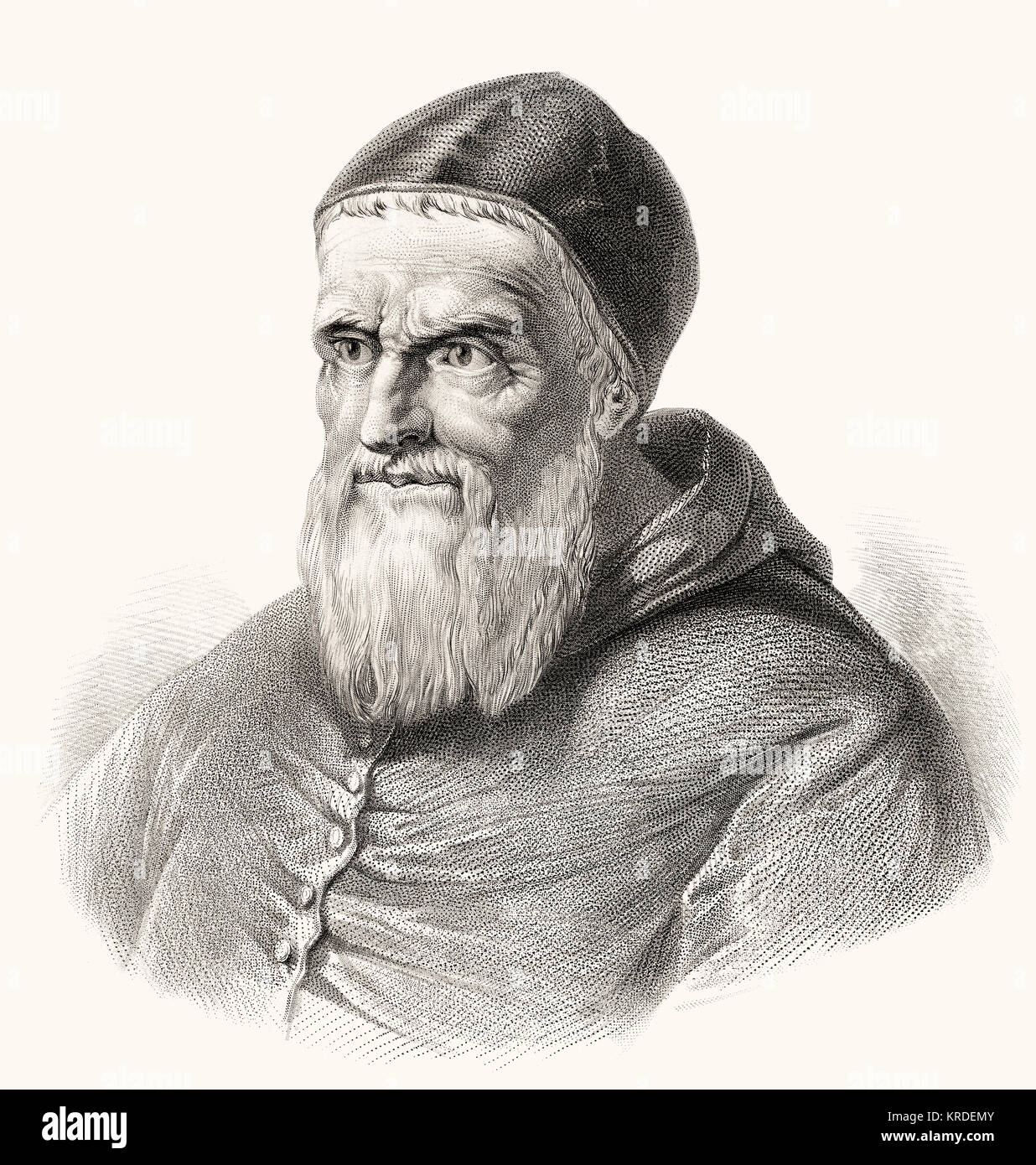 Pope Julius II, 1443 – 21 February 1513, Pope from 1 November 1503 to his death - Stock Image
