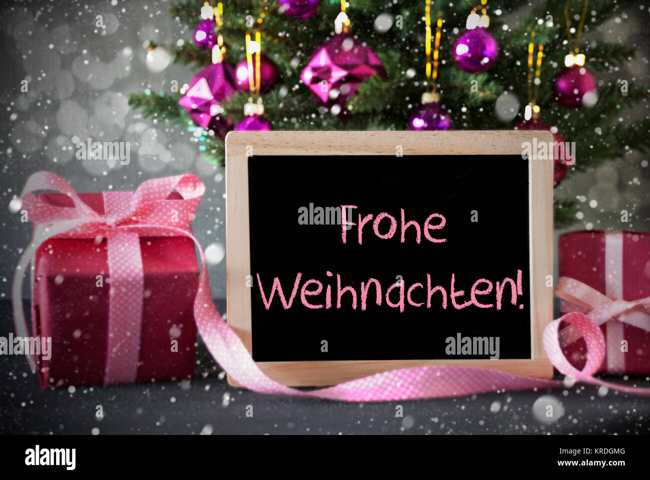 chalkboard with german text frohe weihnachten means merry. Black Bedroom Furniture Sets. Home Design Ideas