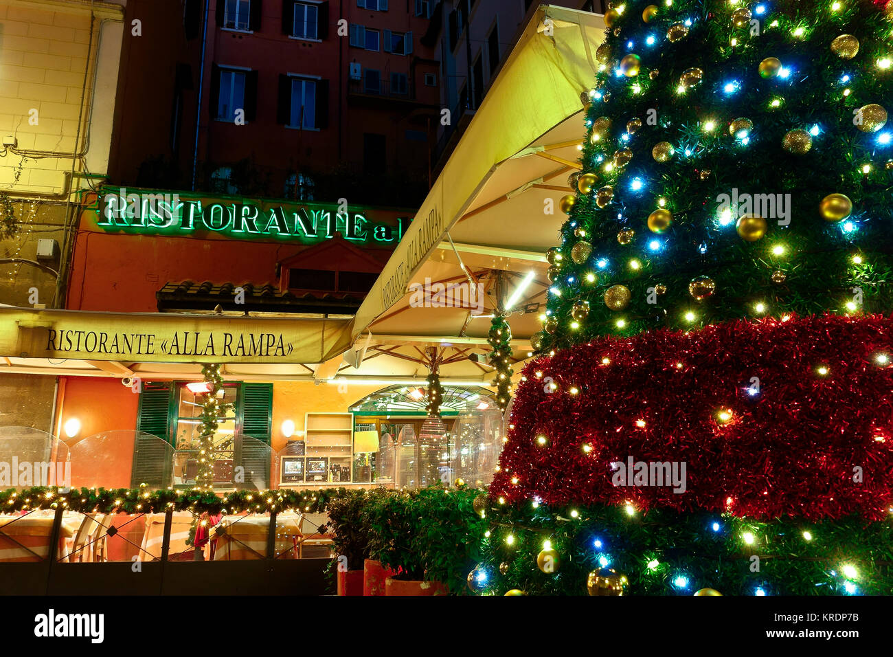 Italian restaurant exterior stock photos