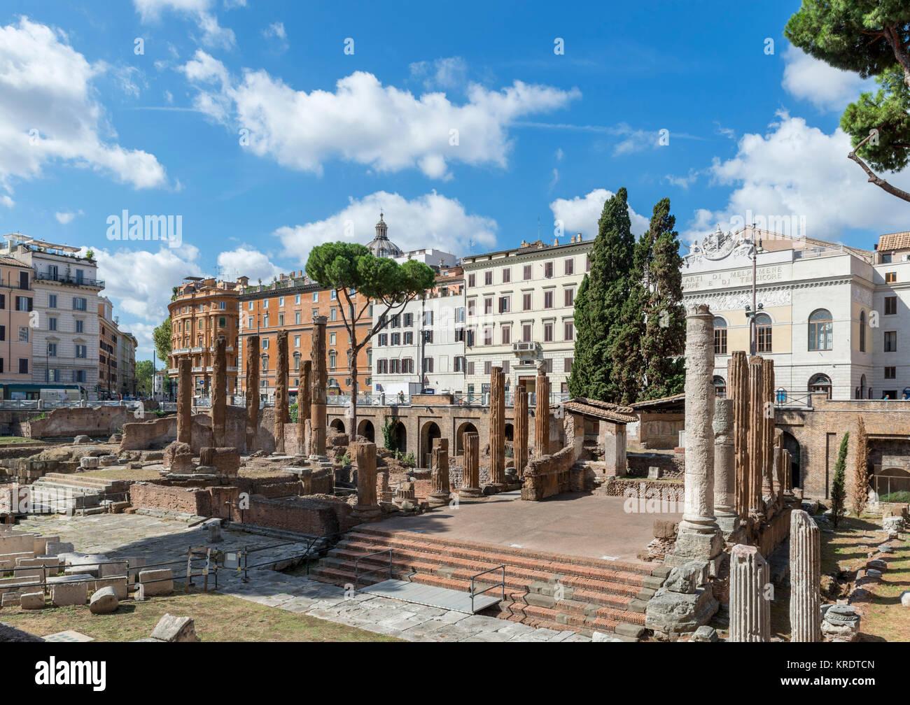 Largo di Torre Argentina in the historic centre, Rome, Italy - Stock Image