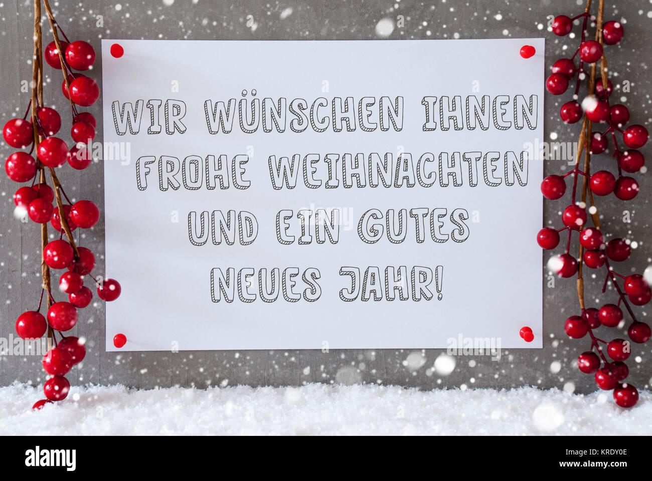 Text Frohe Weihnachten Und Ein Gutes Neues Jahr.Label With German Text Wir Wuenschen Frohe Weihnachten Und Ein Gutes