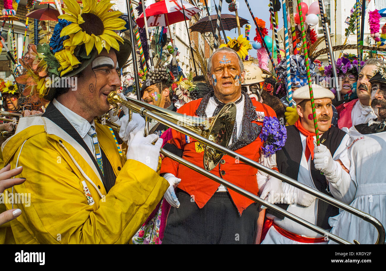 DUNKIRK, FRANCE – february 25, 2004 : Music of the Carnival is the base of it. It is better to know them especially - Stock Image