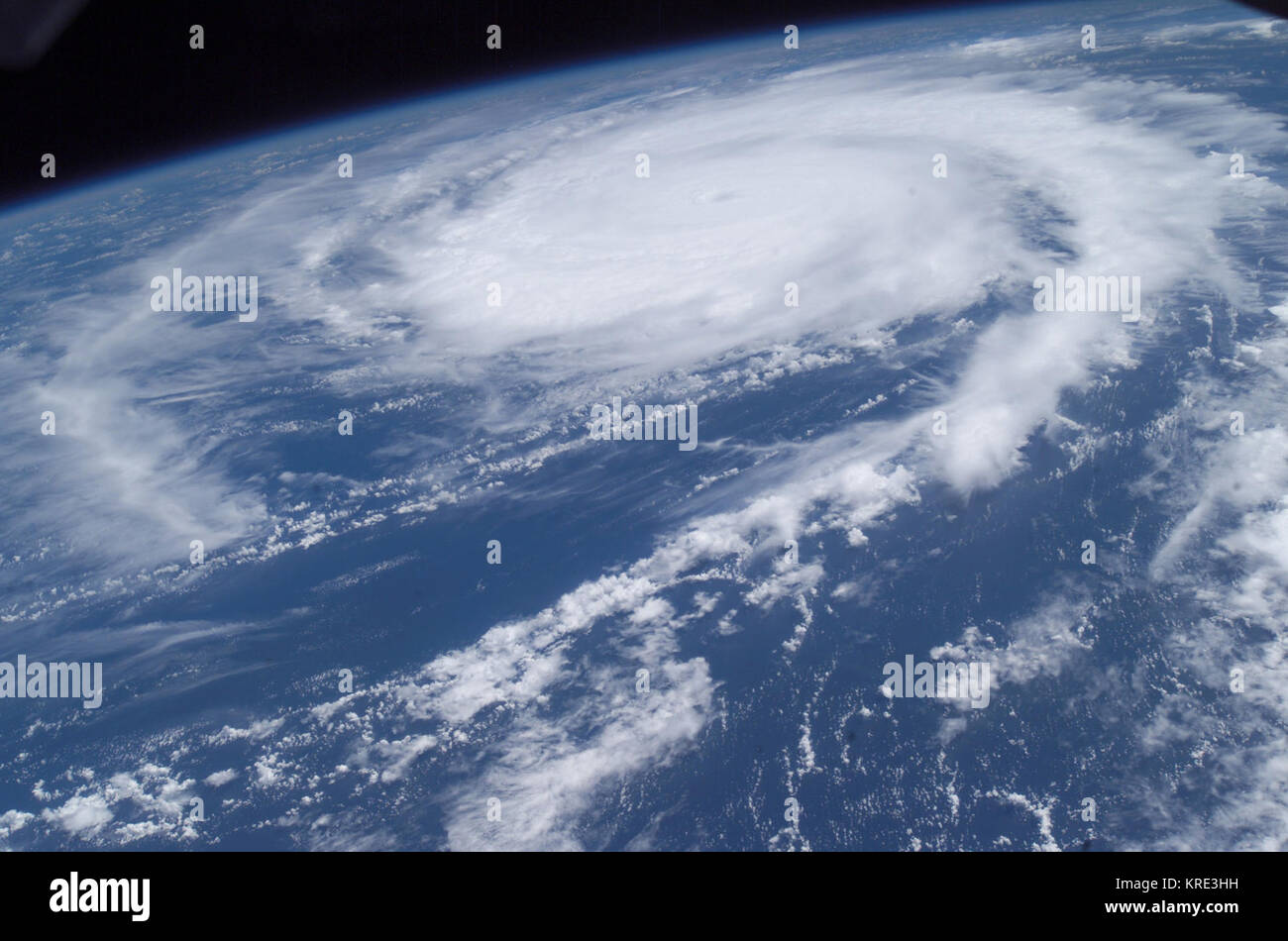 Hurricane Frances from the ISS - 10AM. EDT AUG 27 2004 - Stock Image
