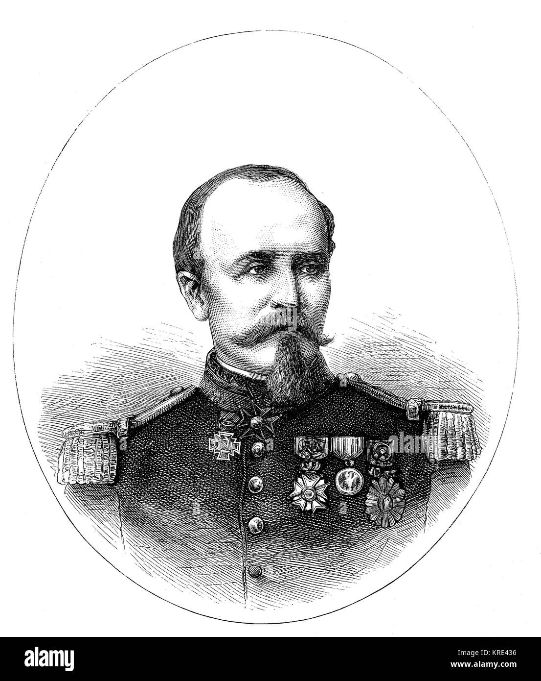 Antoine Eugene Alfred Chanzy, 18 March 1823 - 4 January 1883, was a French general, notable for his successes during - Stock Image