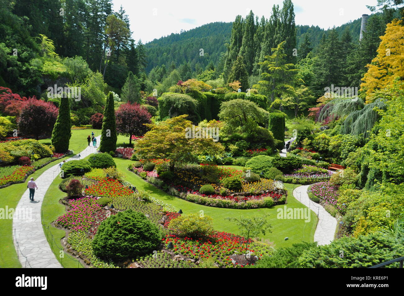 Butchart gardens people stock photos butchart gardens people stock the beautiful sunken gardens at the butchart gardens in victoria bccanada stock image thecheapjerseys