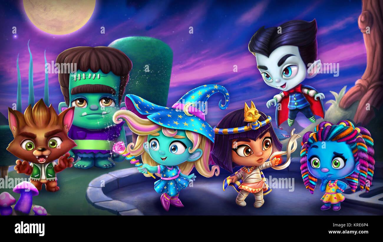 Super Monsters From Left Werewolf Kid Frankie Katya
