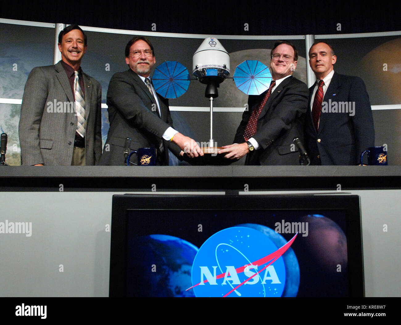 (left to Right) NASA Associate Administrator for the Exploration Systems Directorate Scott Horowitz, NASA Deputy - Stock Image