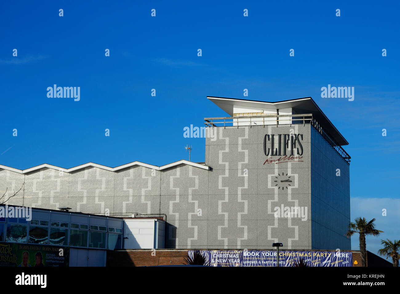 Cliffs Pavilion Westcliff on Sea, Southend on Sea, Essex. Owned by Southend Borough Council and run by HQ Theatres - Stock Image