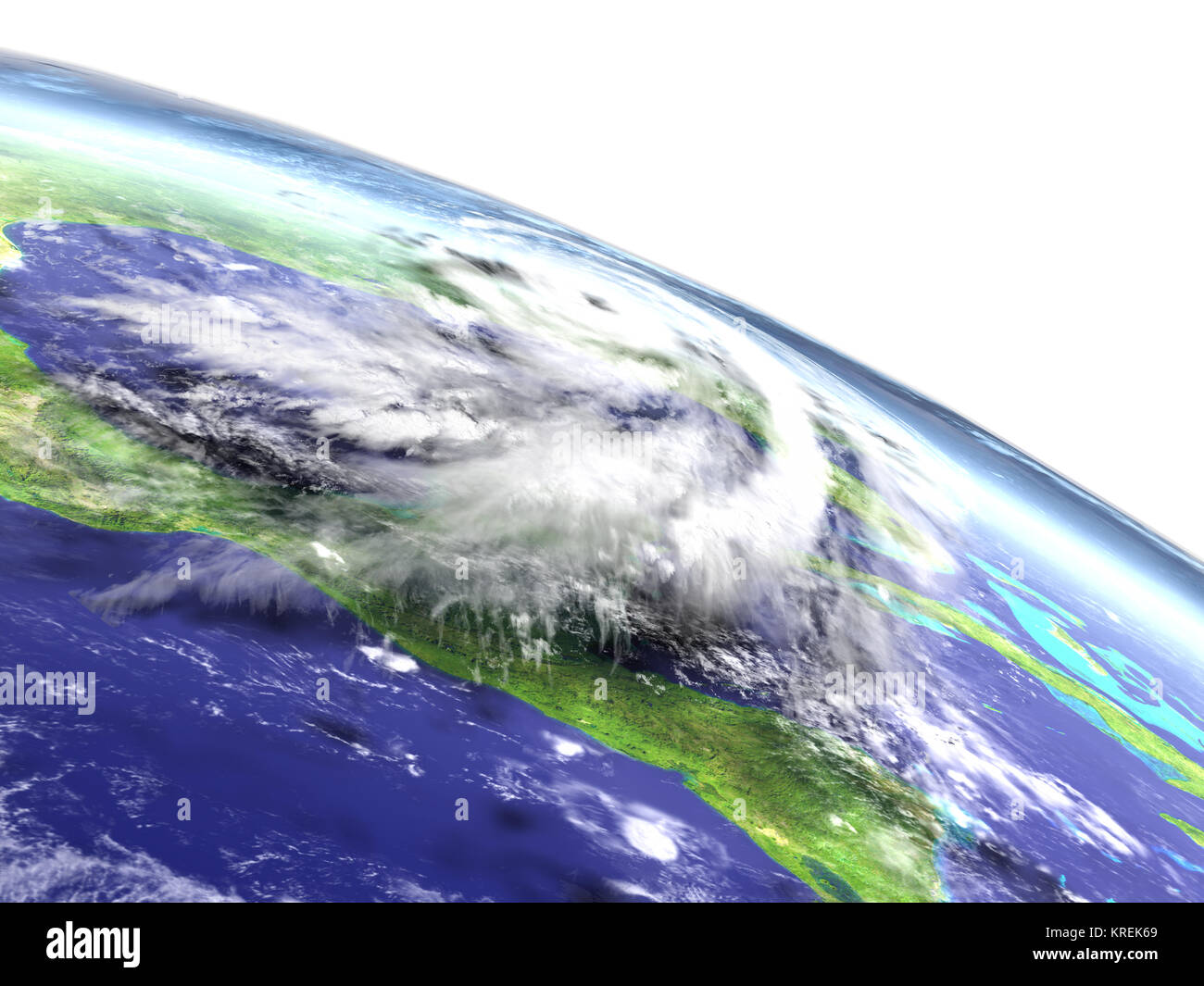 Hurricane Matthew disaster - Stock Image