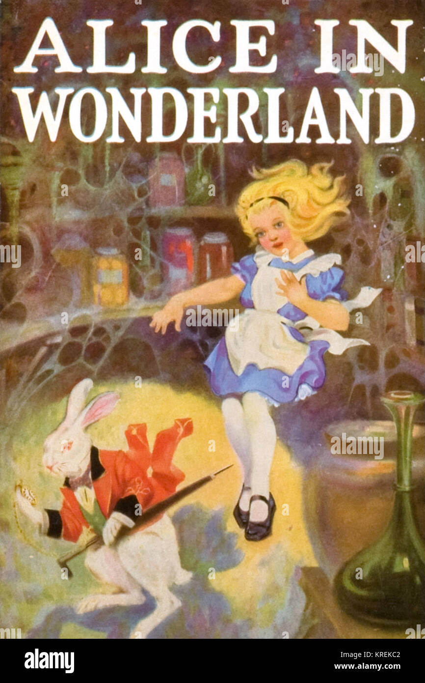 Alice's Adventures in Wonderland and Through the Looking-Glass - Stock Image