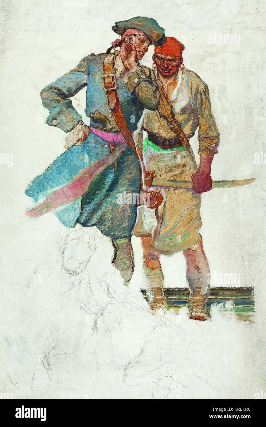 Scheming Pirates - Stock Image
