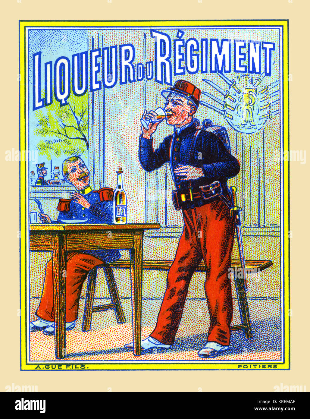 Liqueur du Regiment - Stock Image