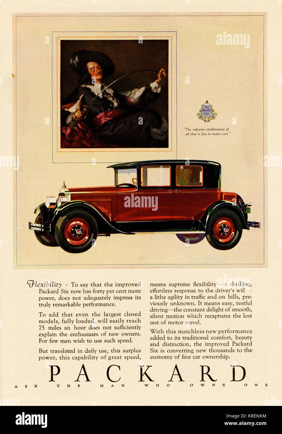 Enduring Supreme Combination Vintage Print Ad 1927 Packard