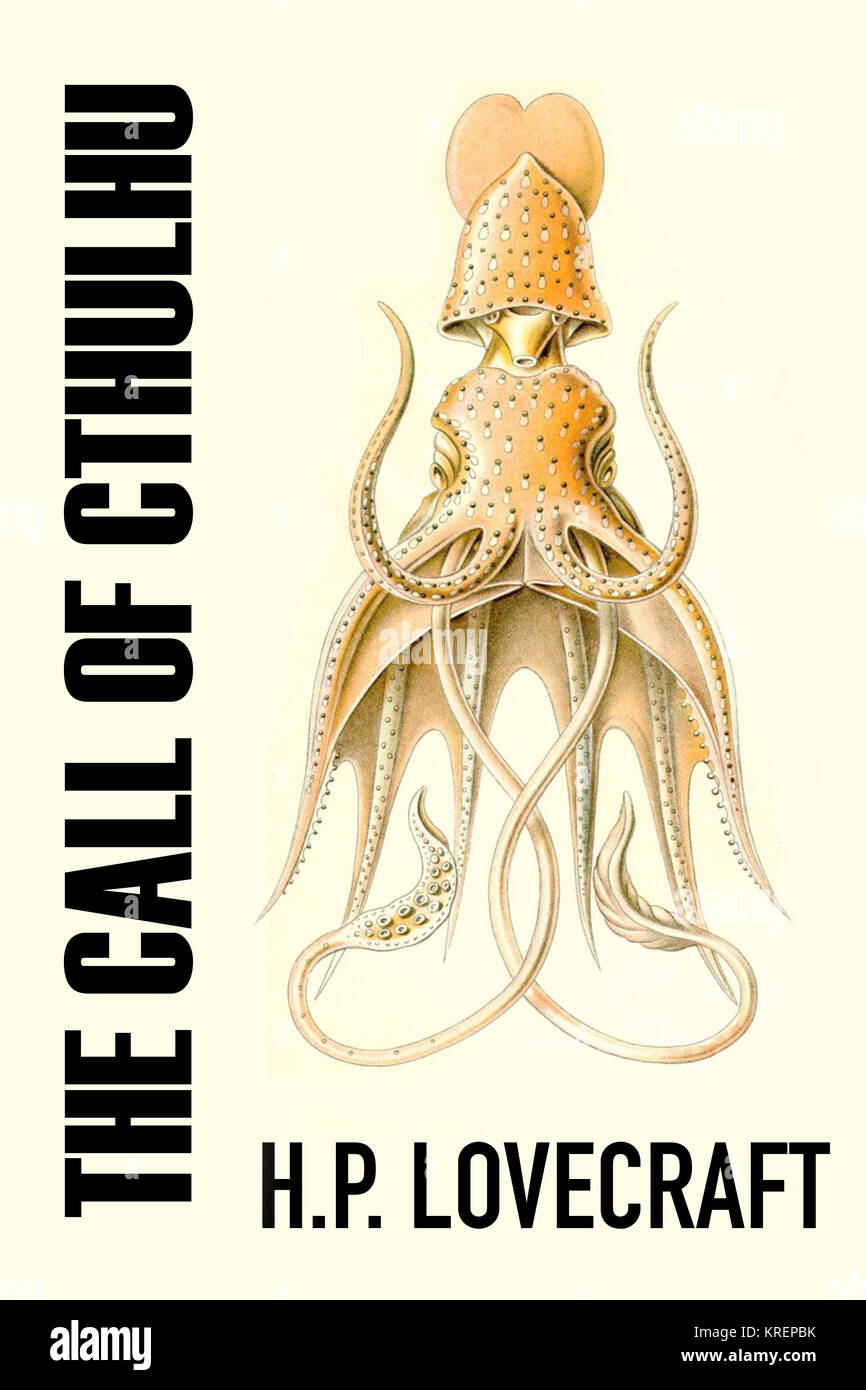 Modern cover art of H P  Lovecraft's story