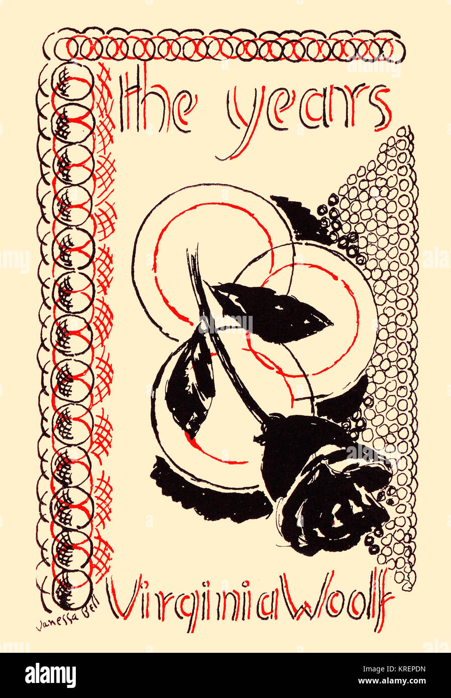 'Original cover art to ''The Years,'' a 1937 novel by Virginia Woolf, the last she published - Stock Image