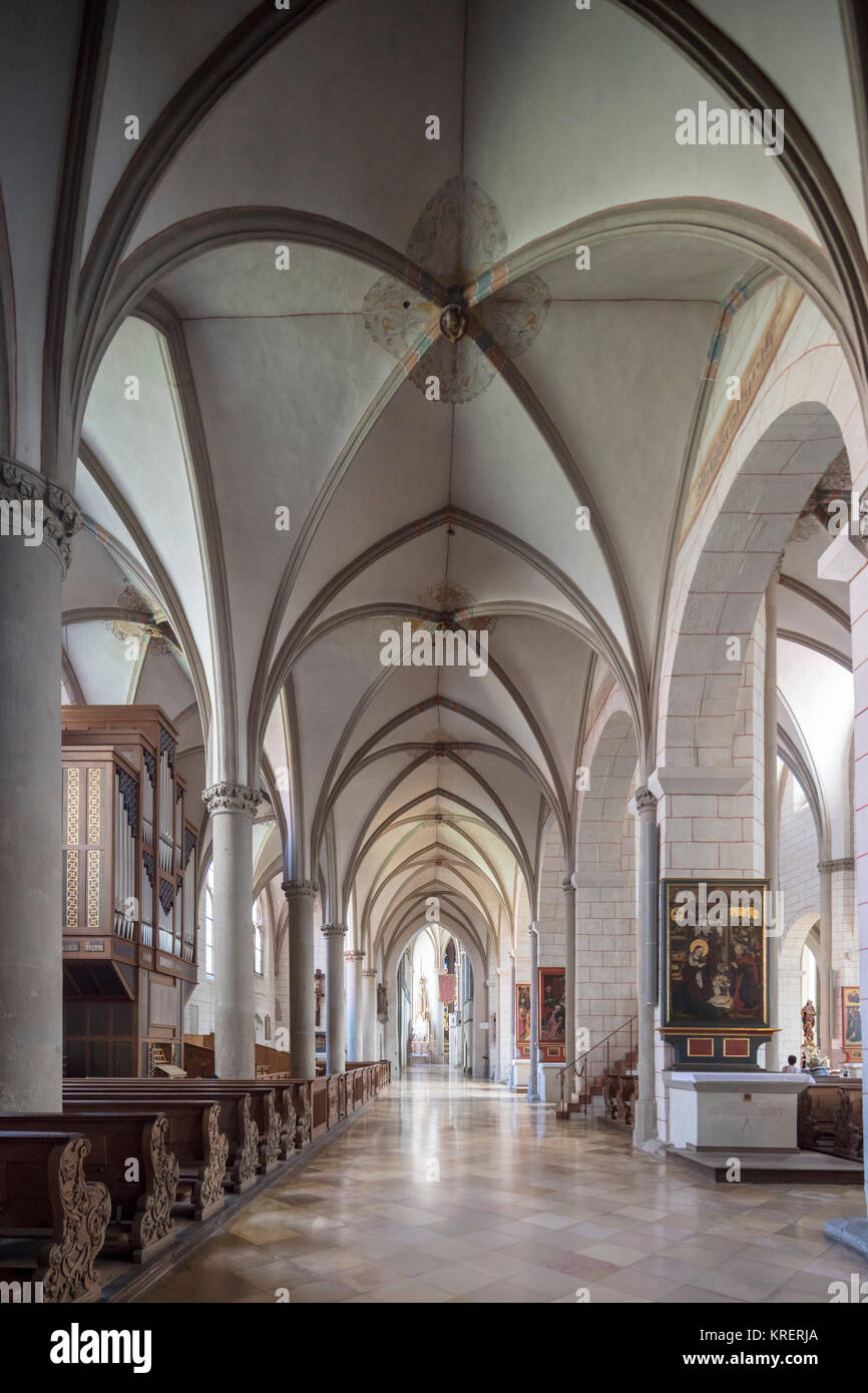 vaulting of Augsburg Cathedral, Bavaria, Germany - Stock Image