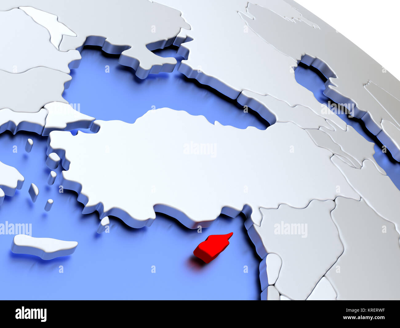 Picture of: Cyprus On World Map Stock Photo Alamy