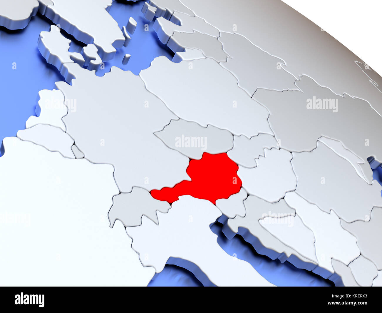 Austria Map Political Stock Photos & Austria Map Political ...
