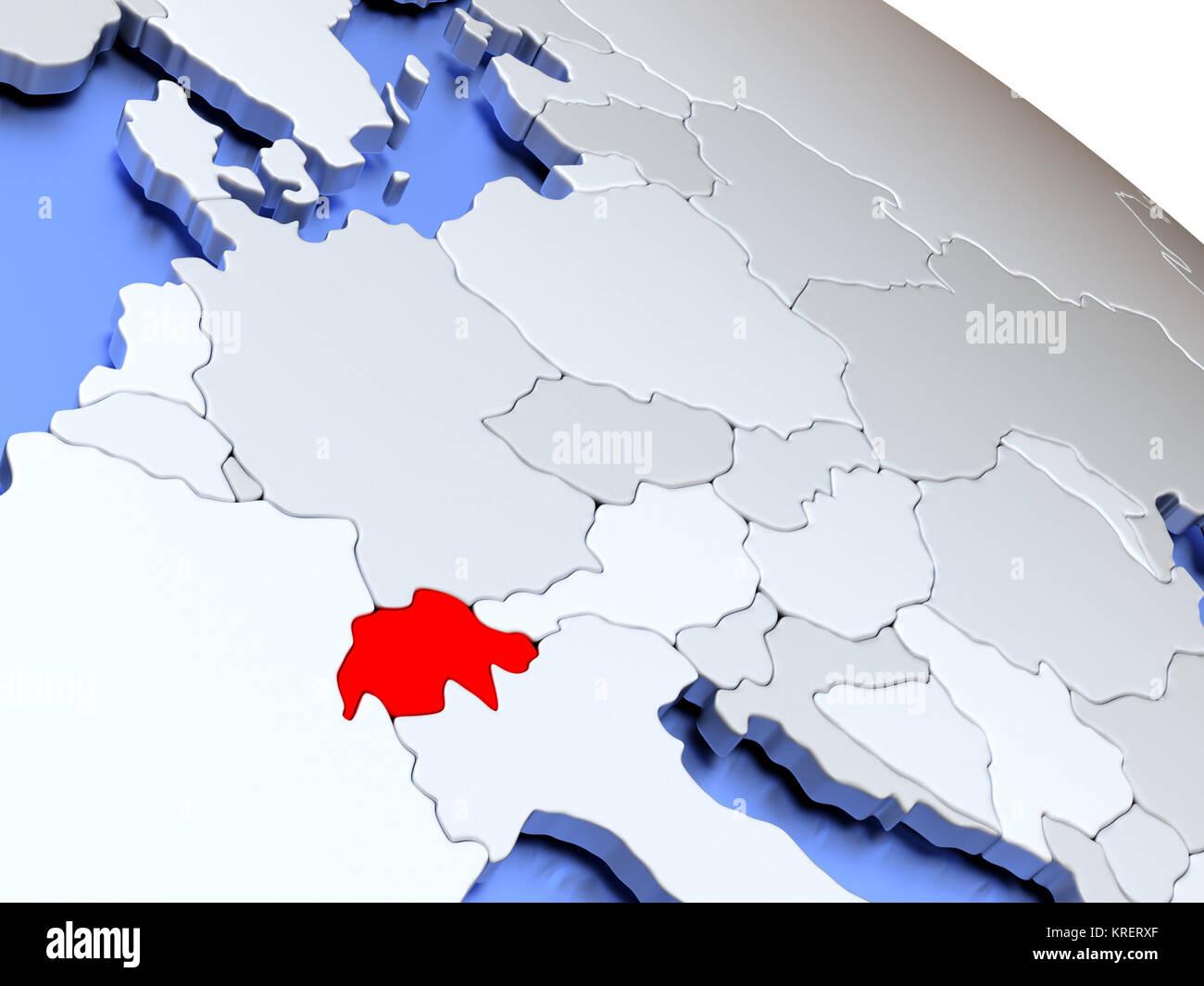 Switzerland In World Map.Switzerland On World Map Stock Photo 169356503 Alamy