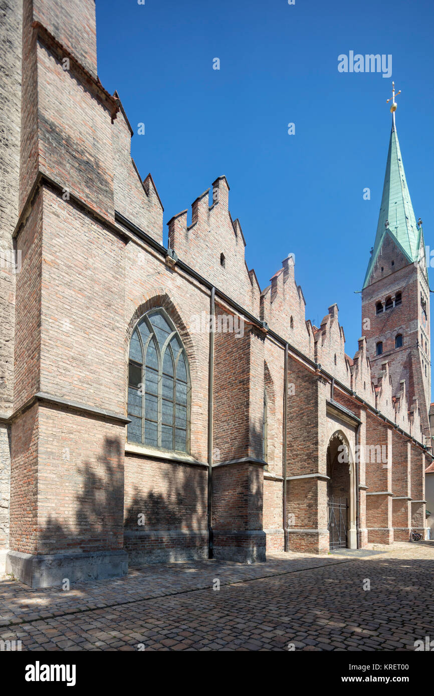 The southern facade, 14th century, Cathedral, Augsburg. - Stock Image