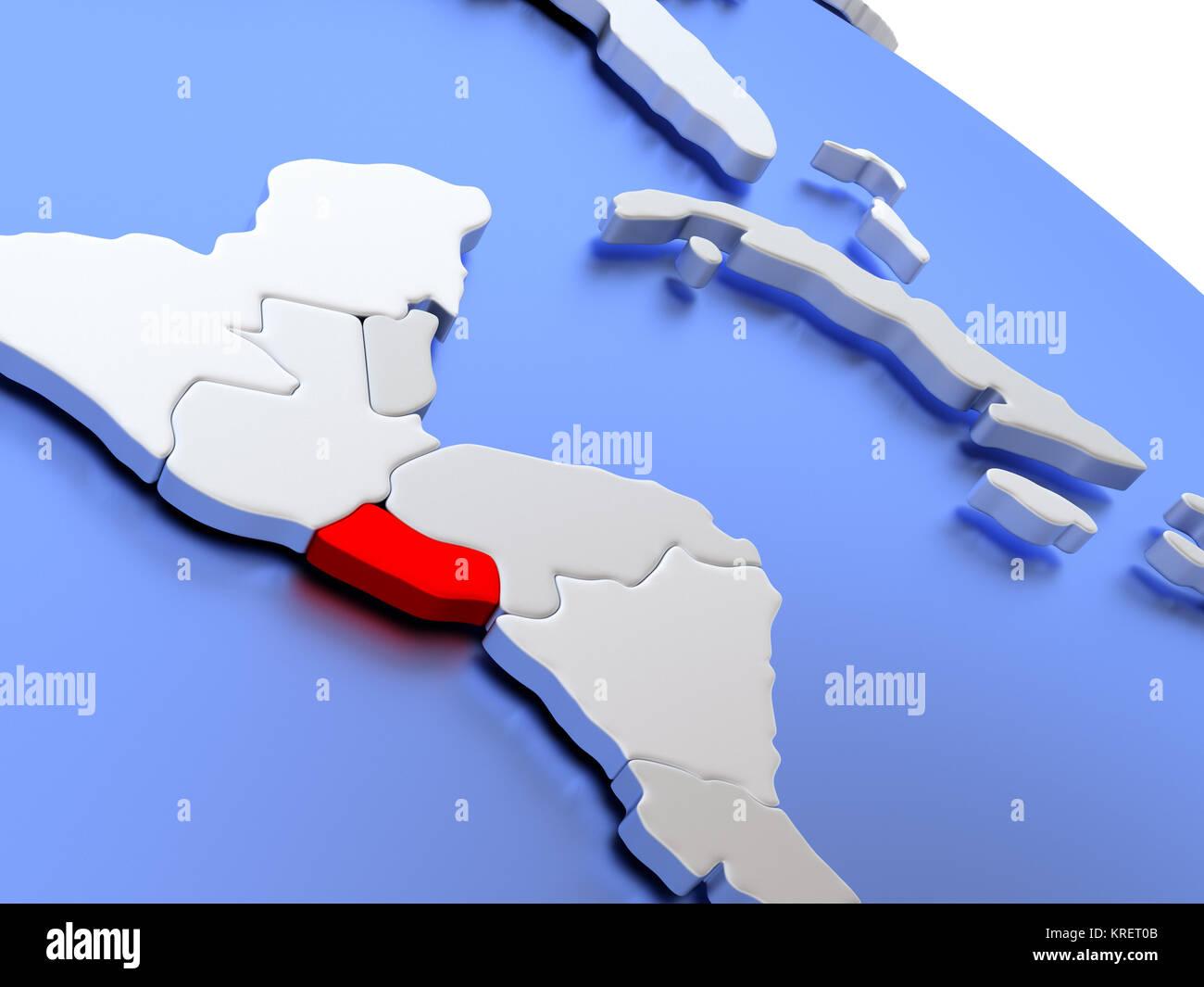 El salvador on world map stock photo 169356555 alamy el salvador on world map gumiabroncs Gallery
