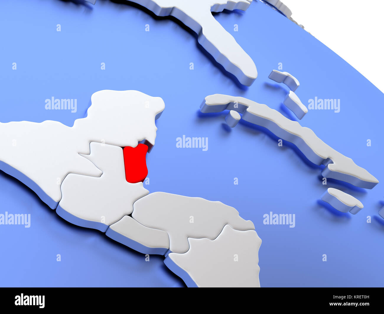 Belize On World Map Stock Photo 169356561 Alamy