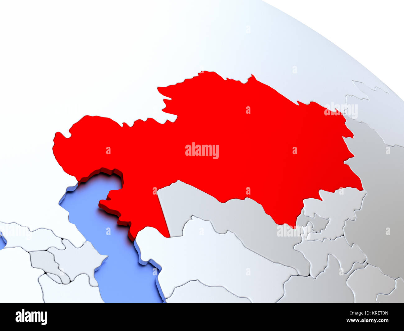 Picture of: Kazakhstan On World Map Stock Photo Alamy