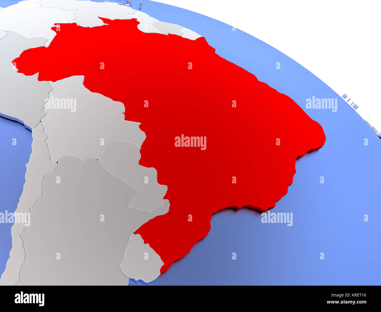 Brazil political map stock photos brazil political map stock brazil on world map stock image gumiabroncs Choice Image
