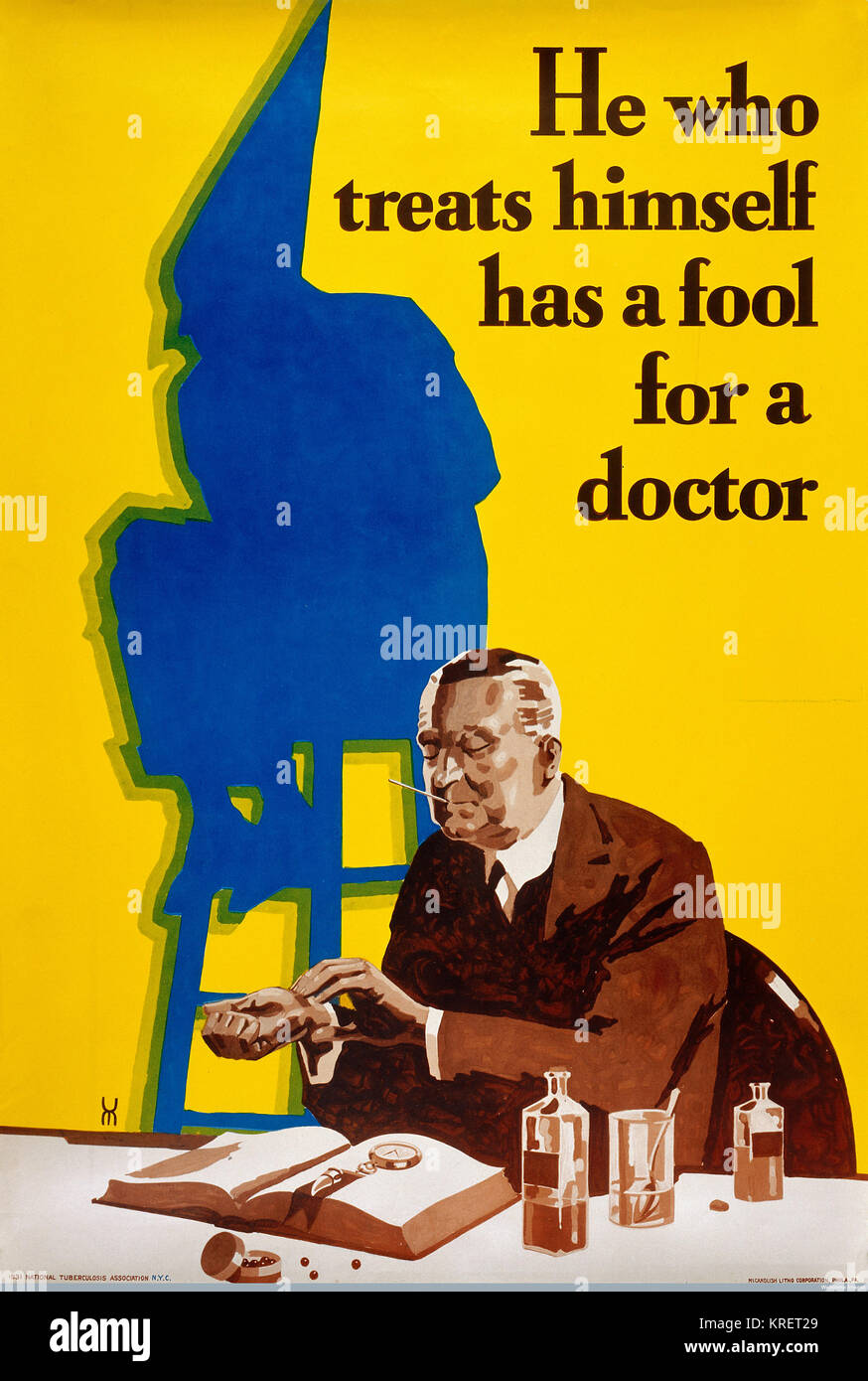 L0032775 He who treats himself has a fool for a doctor Credit: Wellcome Library, London. Wellcome Images images@wellcome.ac.uk - Stock Image